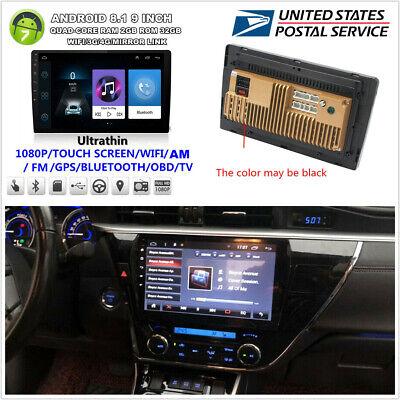 "9/"" 2Din Quad Core Android 8.1 Car Stereo GPS Navi Radio WiFi BT RAM 2GB ROM 32GB"