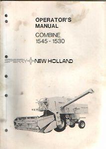 new holland 1530 1545 combine operators manual ebay rh ebay co uk New Holland Manuals S185 New Holland 140Tl Manuals