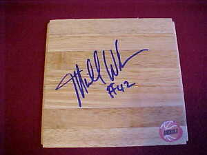 HOUSTON ROCKETS MIKE WOODSON SIGNED FLOOR TILE RARE LOOK