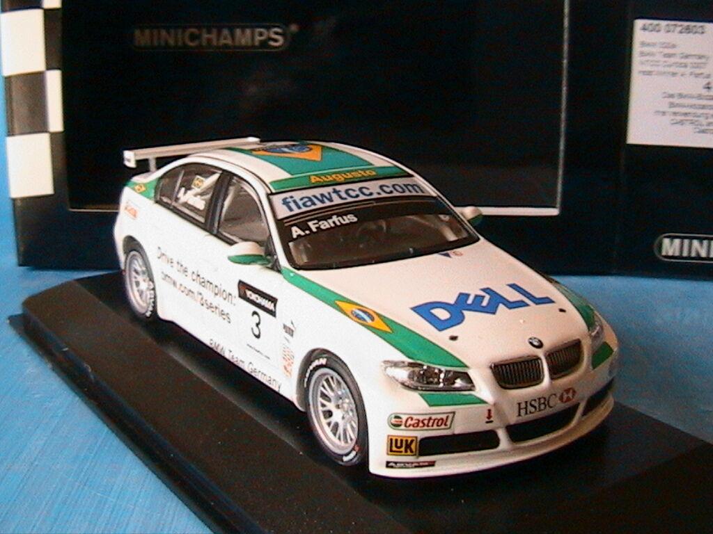 BMW 320SI  3 TEAM GERMANY WTCC CURITIBA 2007 HEAT WINNER FARFUS MINICHAMPS 1 43