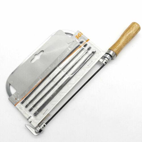 Laubsäg Eisensäge Handsäge Bügelsäge Kurvensäge mit 5 verschiedene Sägeblätter