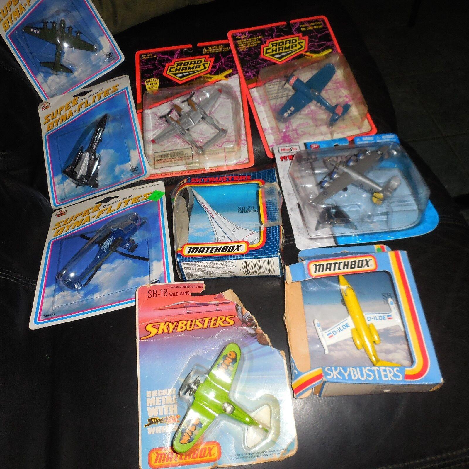 9 Lote de 1981 Matchbox Skybusters sb12 1987 SB23 Jet Lear Concorde Francia SB18 +