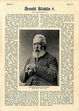 Zum Tode von Alfred Böcklin Letzte Aufnahme Villa San Domenico Fiesole Fl...1901
