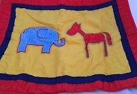 Animal Friends Elephant Horse Standard Pillow Sham Red Company Kids Blue Yellow