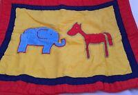 Animal Friends Elephant Horse Standard Pillow Sham Red Company Kids Blue Yellow