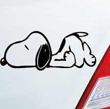 Auto Aufkleber SNOOPY Die Peanuts Charlie Brown Sticker Süß Hund Dog 12x5cm 172