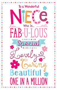 To A Wonderful Niece Carnival Design Bright Modern Happy Birthday