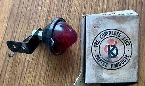 Vintage WWII Red Vehicle Marker Light Black Finish Removable Angle Bracket KD508