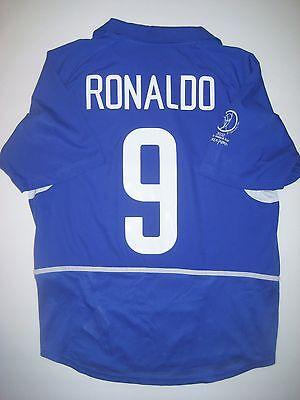 huge selection of 6e77e 0da7b 2002 World Cup Nike Brazil Ronaldo Jersey Shirt Real Madrid Milan Brasil  Away | eBay