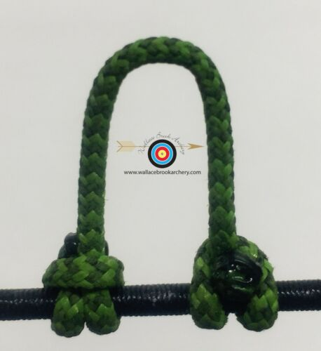 BCY #24 2 Pack Speckled  Green//Black  Archery Release Bow String D Loop