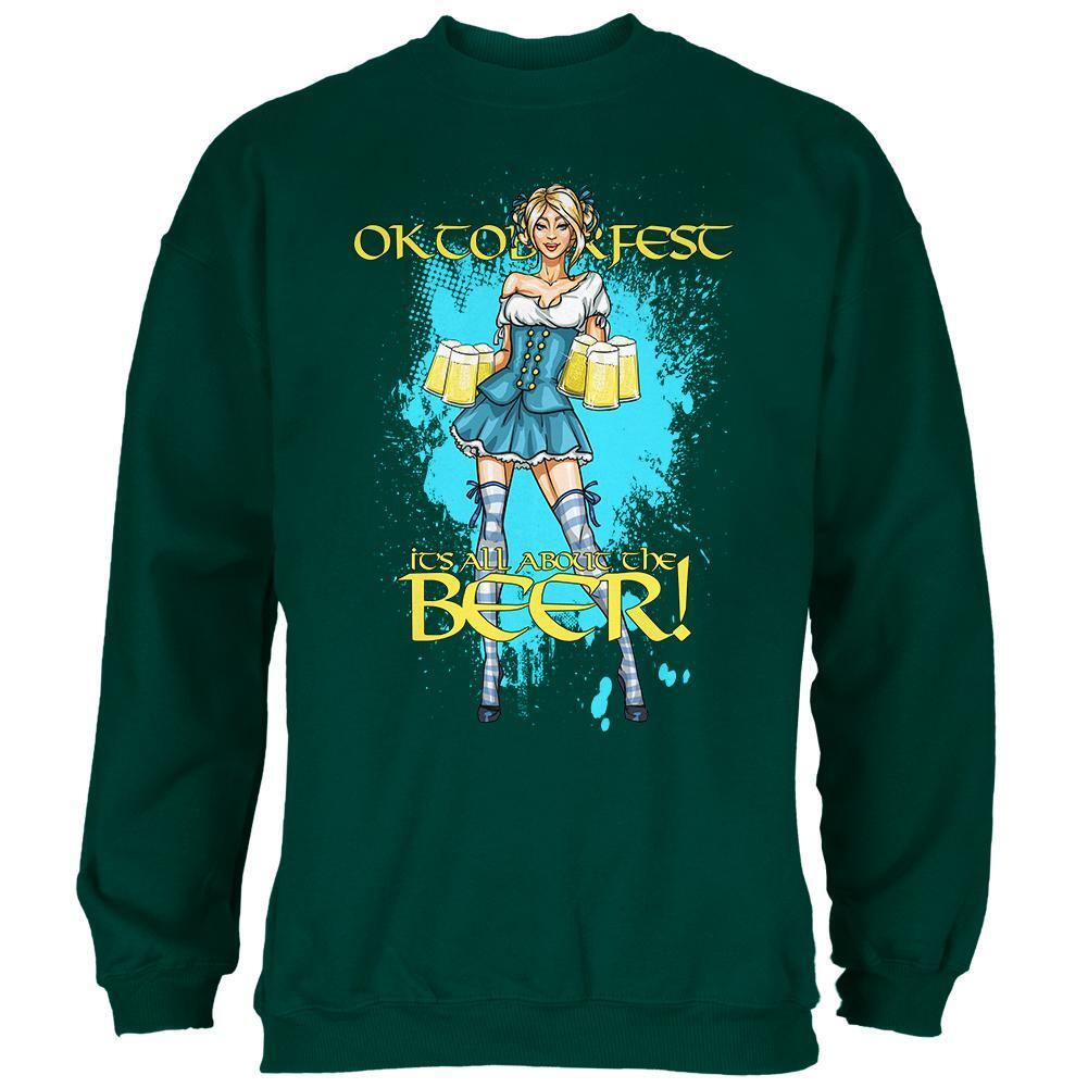 Oktoberfest All About The Beer Wench  Herren Sweatshirt