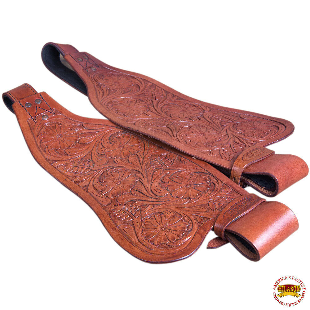 Replaceuominit Saddle Fenders Hilason Leather Adult Mahogany W Hobble Strap U204M