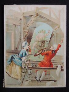 Sous-main-calendrier-1903-lithographie-theme-vin-Bacchus-publicite-Haberer