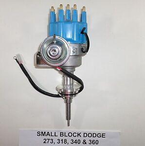 DODGE 273-318-340-360 BLACK Small Female Cap HEI Distributor READY-TO-RUN NEW!!