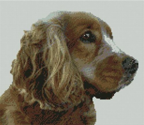 "Cocker Spaniel Counted Cross Stitch Kit 10.5/"" x 8.75/"""