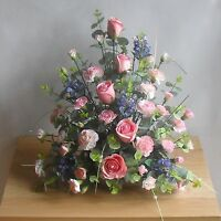 Wedding Mothers Day Flowers Front Facing Artificial Silk Rose Table Arrangement