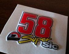 1 Adesivo Stickers SIMONCELLI 58 SIC HONDA Tribute 3D Resinato