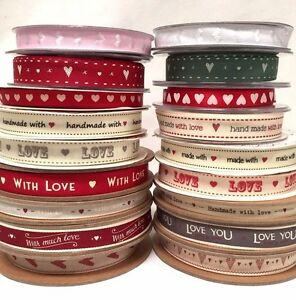 Selection Of Love Hearts Ribbon Valentines Day Ribbons Gift Wrapping