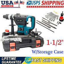 New Adjustable Speed 1 12 Sds Electric Rotary Hammer Drill With Storage Case Us