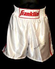 *New* Sugar Ray Leonard Signed Franklin Custom Made Replica Boxing Trunks