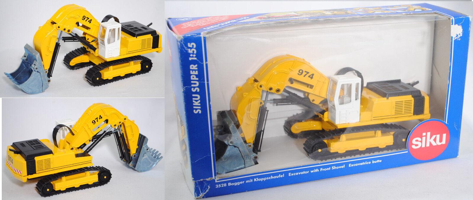 Siku Super 3528 99900 UE Liebherr raupenbagger R 974 B con PLEGABLE Pala 1 55