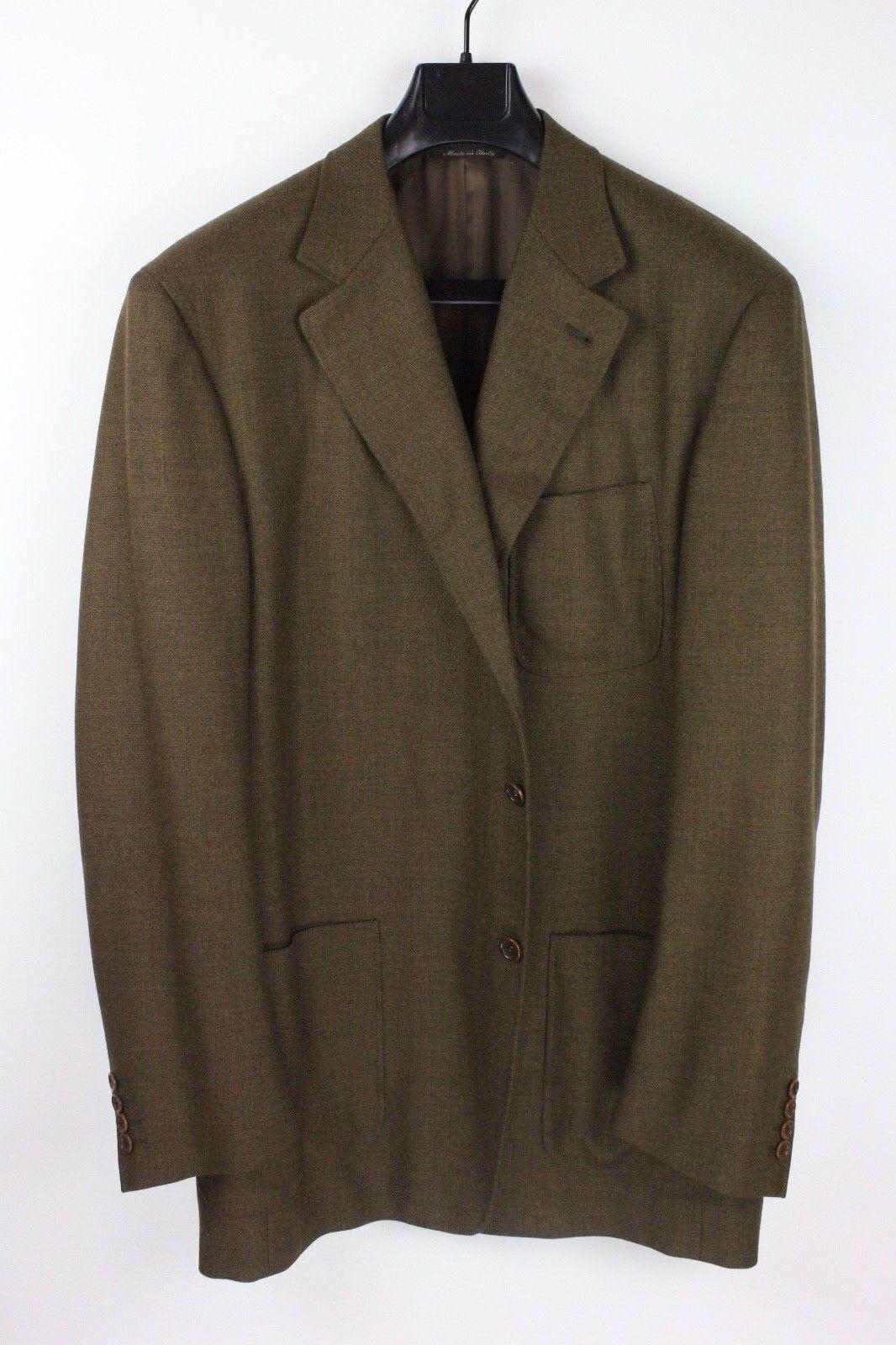 CANALI PROPOSTA Lgold Piana Brown Wool Blazer Sport Coat 46L