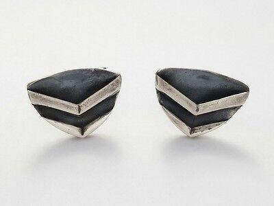 Vintage Modernist Sterling Mid-Century Cufflinks