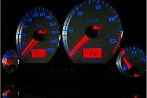 Volkswagen Vento / Jetta MK3 Design 5 glow gauge plasma dials tachoscheibe glow