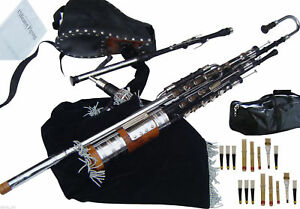 Irish-Uilleann-Pipes-Full-Set-Blackwood-Bagpipes-Made-By-Hakam-Din-amp-Sons