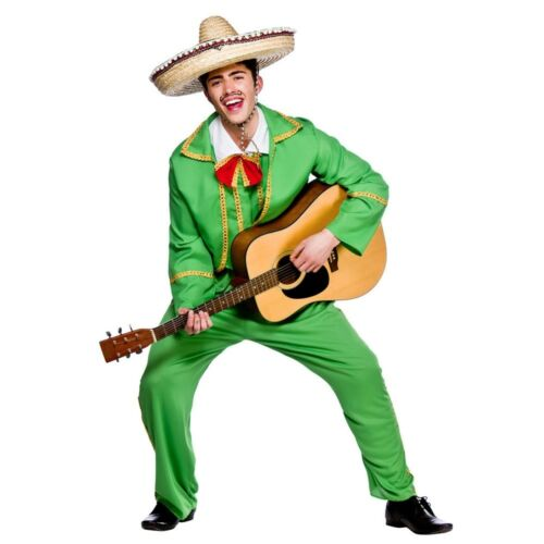 Adult MEXICAN TORTILLA GUY Fancy Dress Costume Mexico Mens Outfit All Sizes