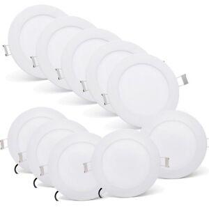 10X9W-LED-Rund-Panel-Einbaustrahler-Einbau-Deckenleuchte-Light-Spot-Kaltweiss