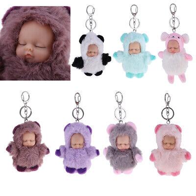 Cute Sleeping Baby Pendant Key Chain Plush Doll Keychain Car Keyrings 10cm