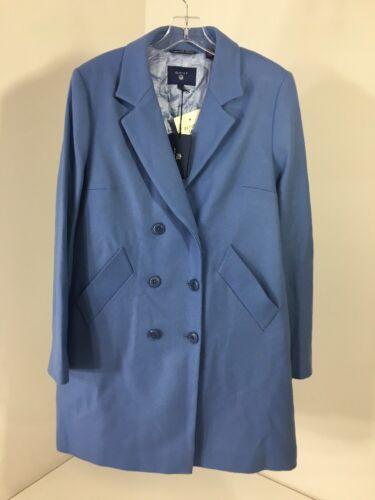 Large Nwt Breasted Double 7325701249361 Women's Blue Wool Gant Blend Nightfall wTU7xqw0P