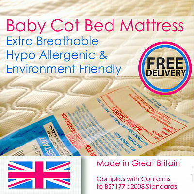Toddler Bed Foam Mattress 5 7.5,10,13 Cm Thick Cooperative Baby Cotbed Extra Breathable