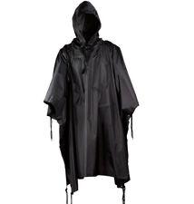Military USMC Style All Weather Poncho Rain Coat Black
