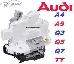 Serratura-Chiusura-Porta-Anteriore-Sinistra-Lato-Guida-Audi-A4-A5-Q3-Q5-Q7-TT