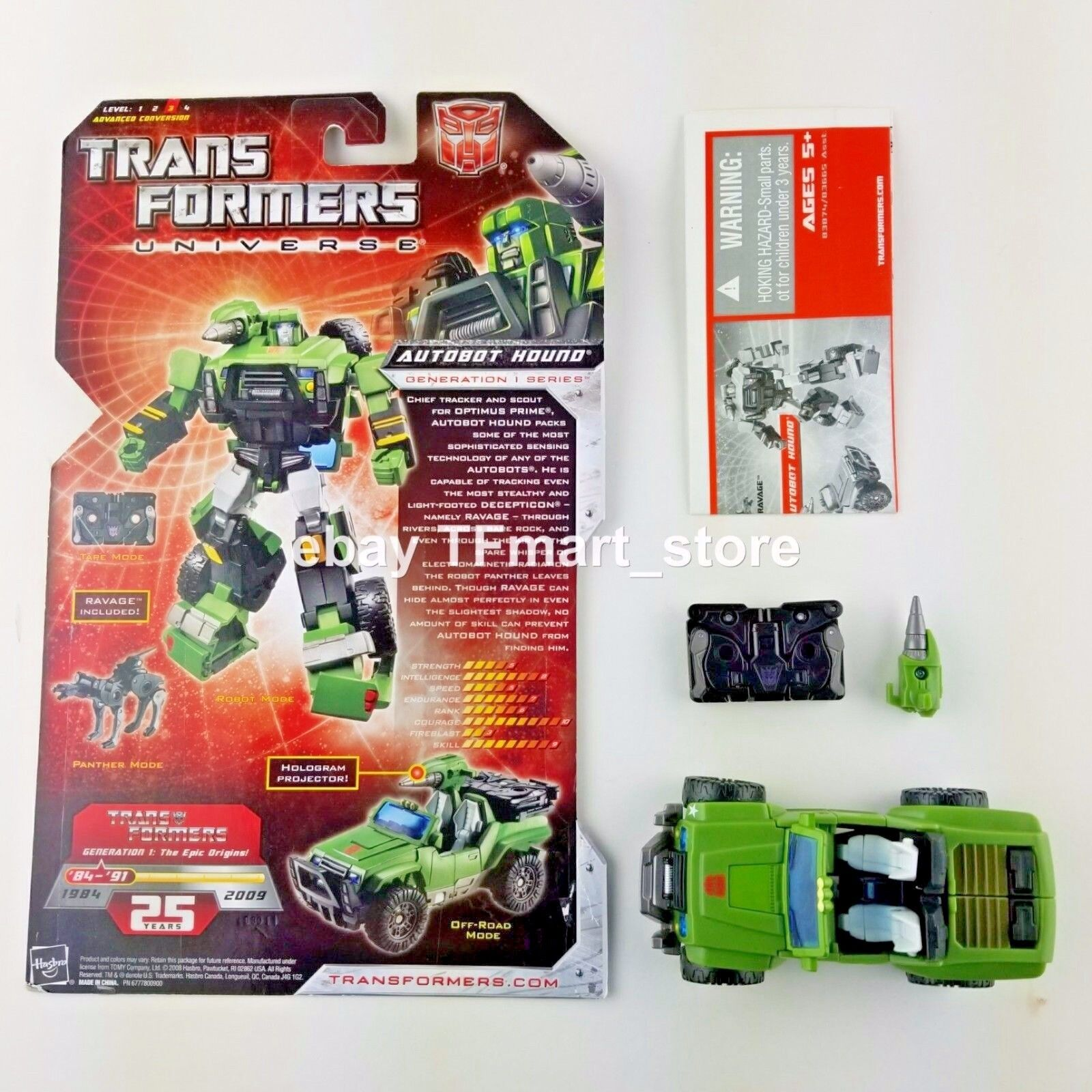 Transformers Universe Deluxe Class Classics Hound w  Ravage Generations