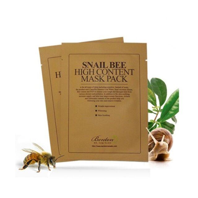 [BENTON]  Snail Bee High Content Mask Pack 20g x 5pcs / korea cosmetics