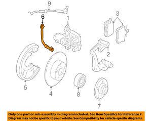Brake Hydraulic Hose Front Left Right fits 2001 Audi Allroad Quattro