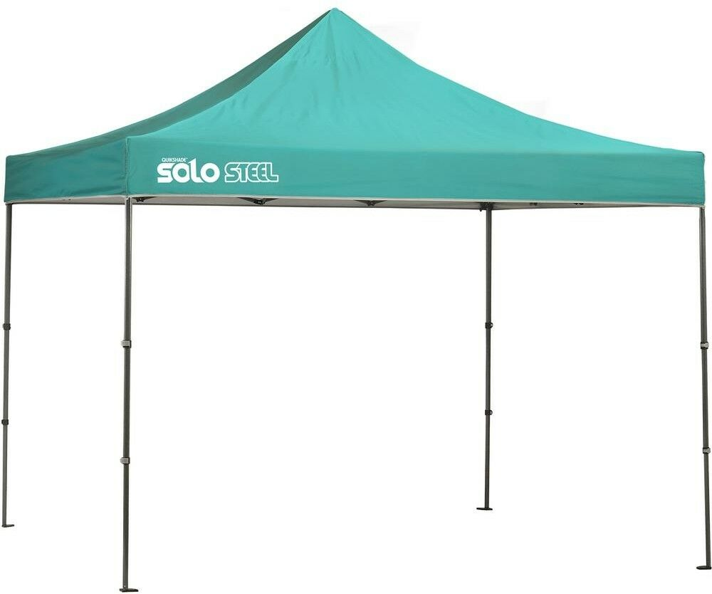 Quik Shade Portable Canopy Pop Up Straight Leg 10 x 10 Turquoise Outdoor New