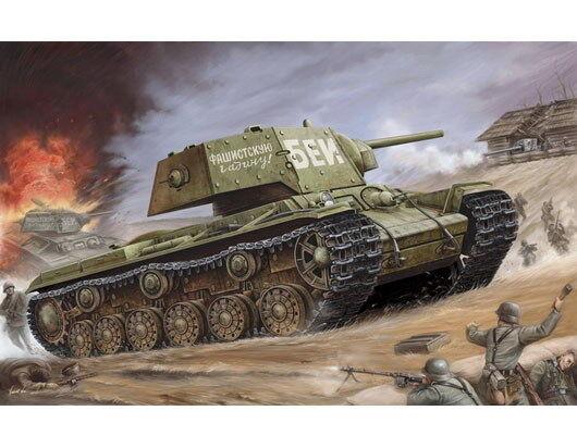 00357 Trumpeter 1 35 Russian KV-1's Ehkranami Armored Tank Car DIY Model Kit