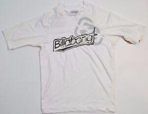 Billabong FU White Black U.V. Protection 50 Boy's Short Sleeve Rash Guard