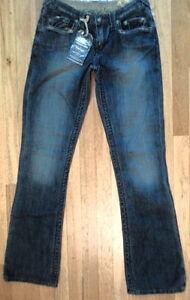 NWT-Stitche-039-s-NAVAJO-Jeans-Dark-Wash-Boot-Cut-Sz-27-30-034-x34-034-S-LM-978