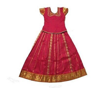 Krishna South Indian Lehenga Girls skirt light GREEN 34 SIDG11