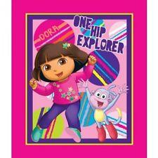 Dora The Explorer One Hip Explorer Panel Cotton Fabric