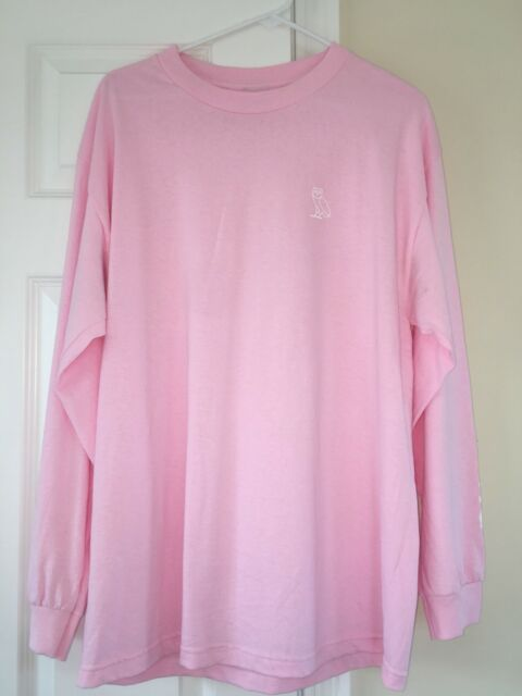 02f9958b708e Drake OVO Pink Hotline Bling Long sleeve T Shirt October s Very own Size L