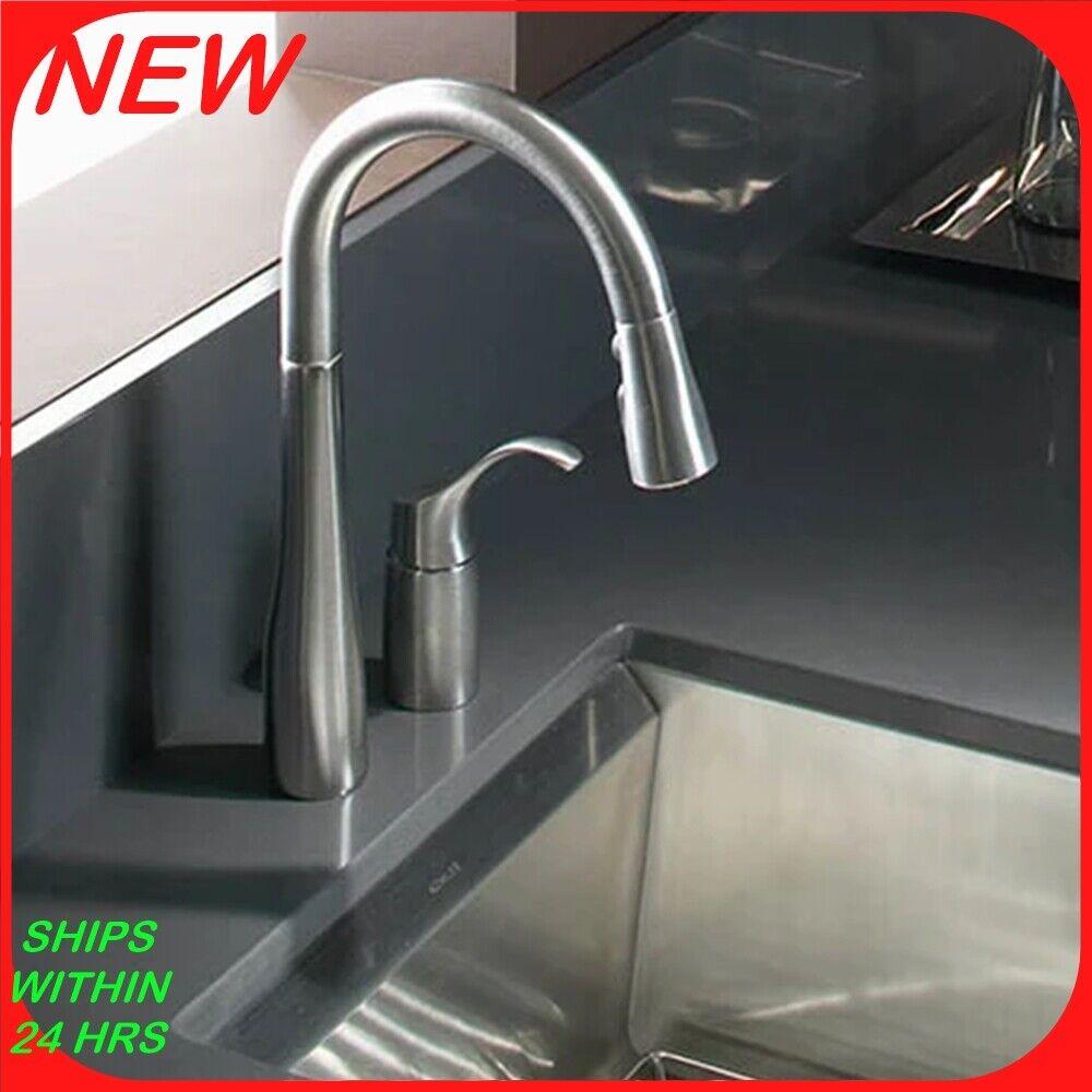 Kohler K 12177 Cp Fairfax Pull Out Kitchen Faucet Model Polished Chrome For Sale Online Ebay