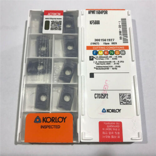 20Pcs Korloy APMT1604PDR KF5800 Carbide Inserts
