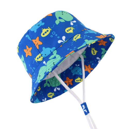 Cartoon Baby kids Summer Sun Hat Toddler Boy Girl bucket hats Beach cap