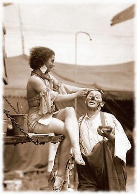 /'The Clown/' A4 A3 A2 Circus 1920/'s Vintage Retro Sepia PHOTO REPRINT RussellArt